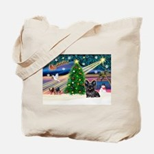 Xmas Magic & Skye Terrier Tote Bag