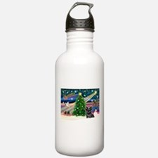 Xmas Magic & Skye Terrier Sports Water Bottle
