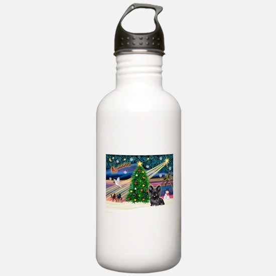 Xmas Magic & Skye Terrier Sports Water Bottle
