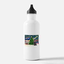 Xmas Magic & Skye Terrier Water Bottle
