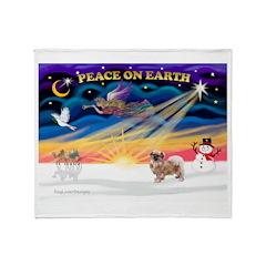 XmasSunrise/Tibetan Spaniel Throw Blanket
