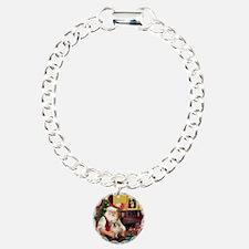 Santa/Tibetan Spaniel Bracelet