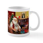 Santa/Tibetan Spaniel Mug