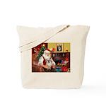 Santa/Tibetan Spaniel Tote Bag
