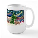 XmasMagic/Tibetan Spaniel Large Mug