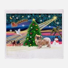 XmasMagic/Tibetan Spaniel Throw Blanket