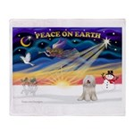 XmasSunrise/Tibet Ter Throw Blanket