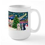 XmasMagic/TibetanTerriers Large Mug