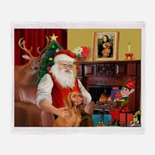Santa's Vizsla Throw Blanket