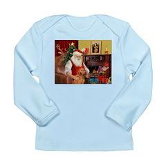 Santa's Vizsla Long Sleeve Infant T-Shirt