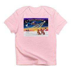 XmasSunrise/2 Weimaraners Infant T-Shirt