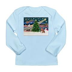 XmasMagic/Weimaraner 4 Long Sleeve Infant T-Shirt