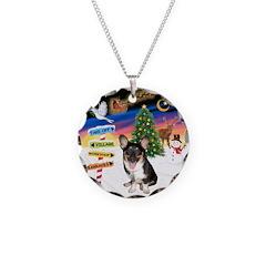 XmasSigns/Corgi Pup (Z) Necklace Circle Charm