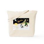 Night Flight/Corgi (BM) Tote Bag
