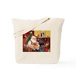 Santa's 2 Corgis (P2) Tote Bag