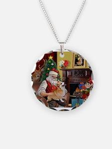 Santa's Welsh Corgi (7b) Necklace