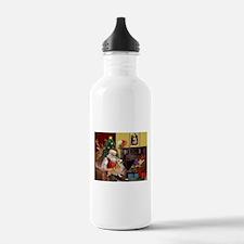 Santa's Welsh Corgi (7b) Water Bottle