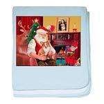 Santa's Corgi (#3P) baby blanket