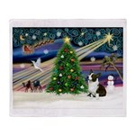 XmasMagic/Corgi (5C) Throw Blanket