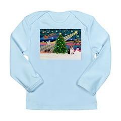 Xmas Magic & Corgi Long Sleeve Infant T-Shirt