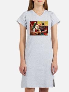 Santa's Welsh Terrier Women's Nightshirt