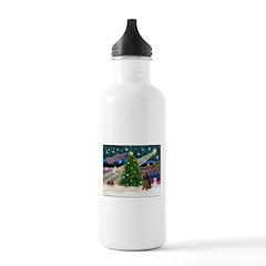 Xmas Magic & Welsh Terrier Water Bottle