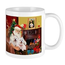 Santa's Westie pair Mug
