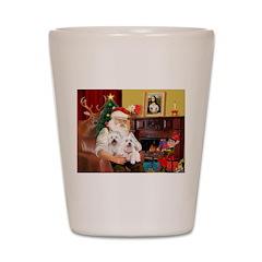 Santa's Westie pair Shot Glass