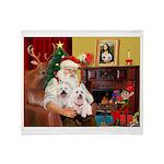 Santa's Westie pair Throw Blanket