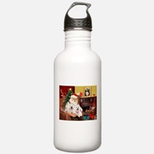 Santa's Westie pair Water Bottle