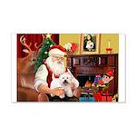 Santa's Westie 22x14 Wall Peel