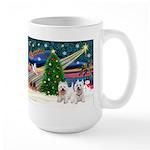 Xmas Magic & 2 Westies Large Mug
