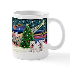 Xmas Magic & 2 Westies Mug