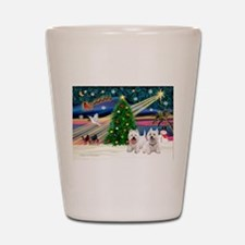Xmas Magic & 2 Westies Shot Glass