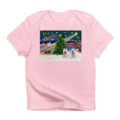 Xmas Magic & 2 Westies Infant T-Shirt