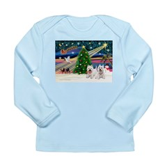 Xmas Magic & 2 Westies Long Sleeve Infant T-Shirt