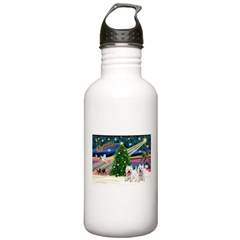 Xmas Magic & 2 Westies Water Bottle