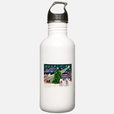 Xmas Magic & 2 Westies Water Bottle