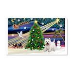 Xmas Magic & Westie 22x14 Wall Peel