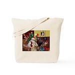 Santa's Wheaten (#7) Tote Bag