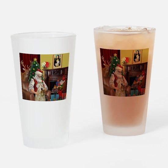 Santa's Wheaten (#7) Drinking Glass