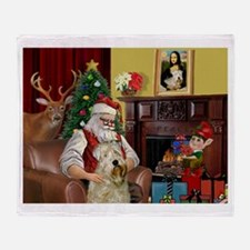 Santa's Wheaten (#7) Throw Blanket