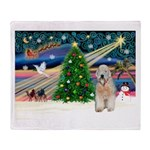 XmasMagic/Wheaten (#5) Throw Blanket