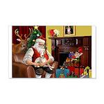 Santa's Whippet 22x14 Wall Peel
