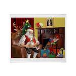 Santa's Whippet Throw Blanket