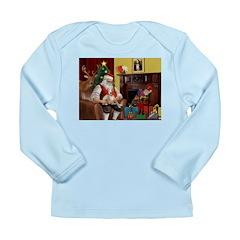 Santa's Whippet Long Sleeve Infant T-Shirt