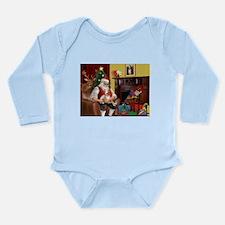 Santa's Whippet Long Sleeve Infant Bodysuit