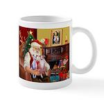 Santa & his 2 Whippets Mug