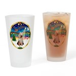 XmasMusic 3/Yorkie #2 Drinking Glass