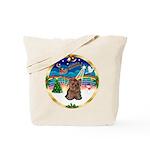 XmasMusic 3/Yorkie #11 Tote Bag